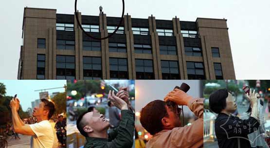 杭州男子欲跳楼 遭围观拍照无人报警