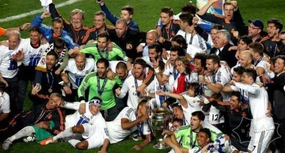 欧冠决赛:皇马4-1逆转马竞夺冠 拉莫斯补时扳平 贝尔C罗加时破门  全场集锦