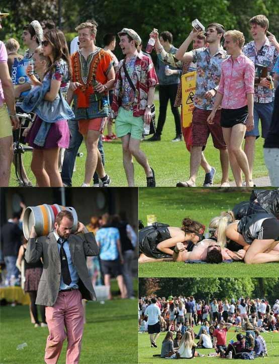 2000名剑桥大学生公园纵酒狂欢  其中有90名诺贝尔奖得主(视频)