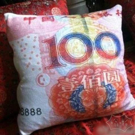 财迷的枕头!你值得拥有。