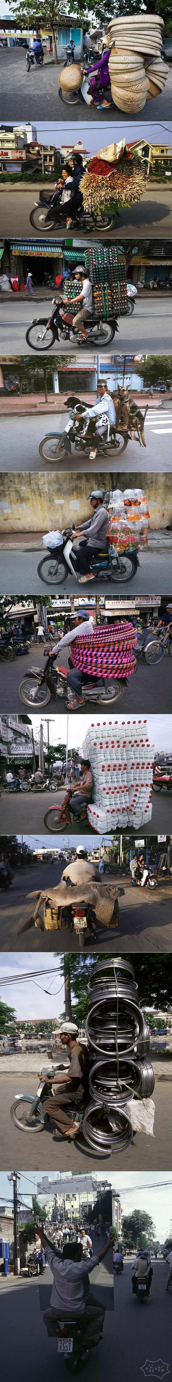 令人惊叹的越南摩托车装载能力