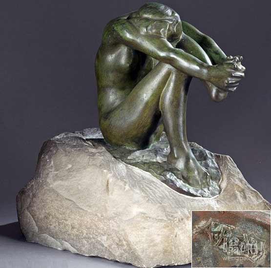 家庭震惊:他们保存在沙鼠笼是价值135000美元罗丹青铜雕塑古董(但艺术家的签名不是赠品?)
