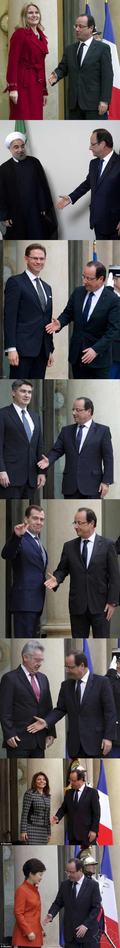 法国总统只是想要一个亲切的握手