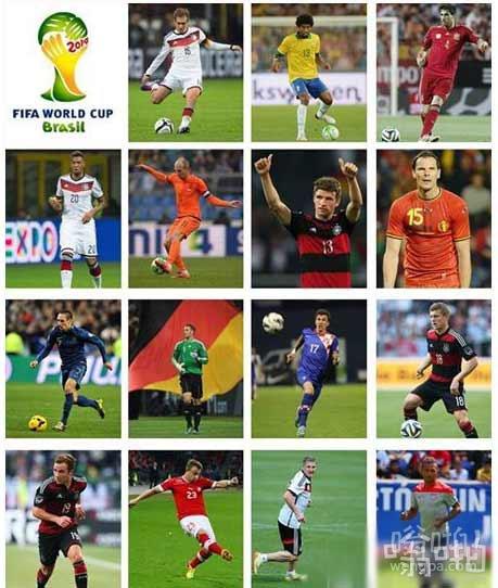 拜仁15位球员参加2014巴西世界杯 球员名单
