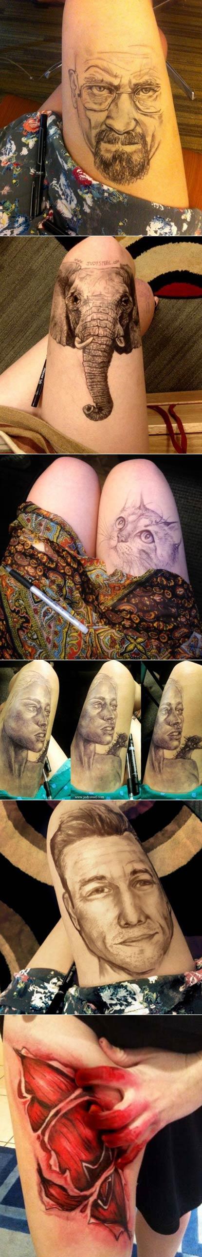 美女自学成才的大腿画