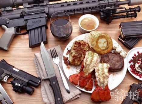 典型的美国学校午餐