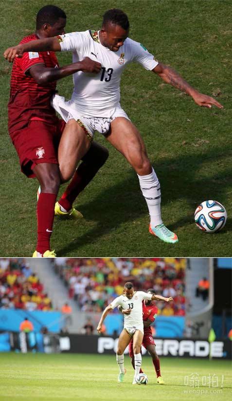 """世界杯尴尬一幕 全球目睹加纳球星露""""大伙伴"""""""