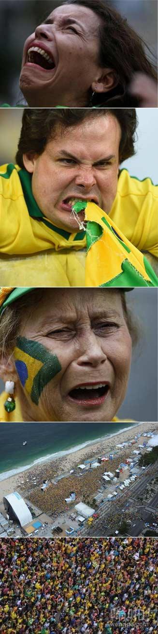 惨案!巴西遭遇史上最惨痛失利1:7遭德国战车践踏(视频集锦)