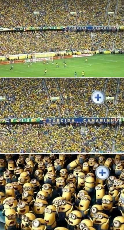 巴西的球迷被放大后