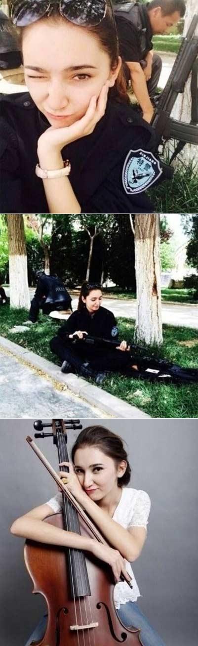 #新疆美女特警#这可不是剧照哦!这可是我们新疆反恐前线货真价实的美女特警!身穿特警制服的新疆美女英姿飒爽又不失妩媚更多生活照