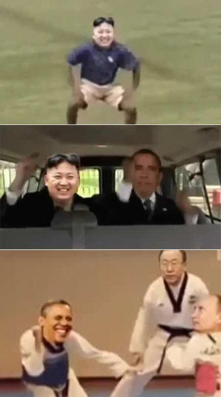笑到气短:金三胖小苹果版搞笑视频 三胖貌似不太熟悉霹雳舞