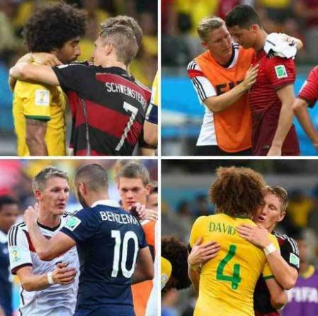 """""""小猪""""施魏因斯泰格鼓励被德国打败的对手"""