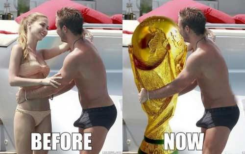马里奥-格策在世界杯决赛进球后的感觉