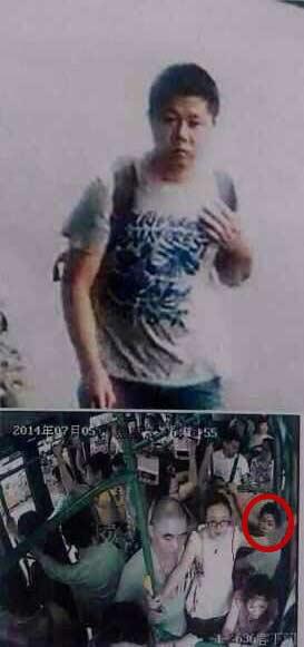 杭州公交车纵火案嫌疑犯照片身份曝光 微胖三十岁左右双肩包
