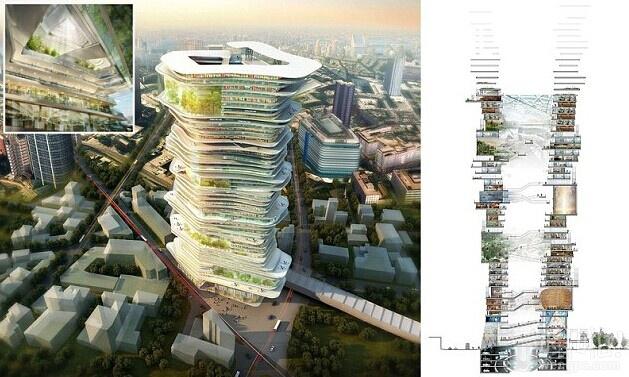 天空之城:伦敦的商业大楼宏伟的蓝图,可以容纳数千人 – 以及学校,办公室,商店,甚至停车场