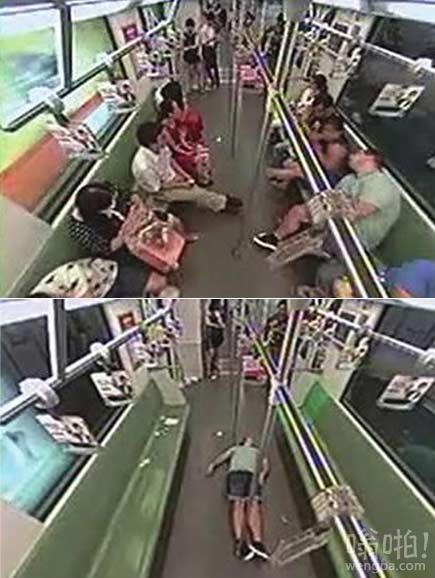 老外地铁车厢内晕倒引发骚乱 乘客10秒内跑光
