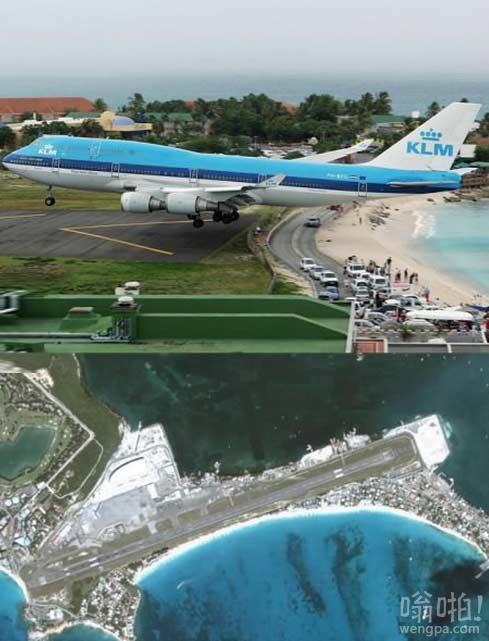 十大最危险机场之一圣马丁岛朱莉安娜公主机场 大家感受下