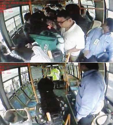 长沙一乘客公交上烧衣服线头 造恐慌一人跳窗