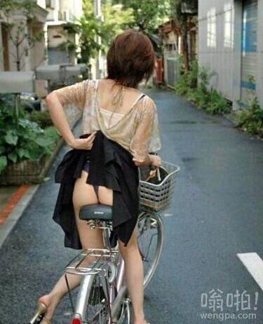 穿裙子骑车就这点不好