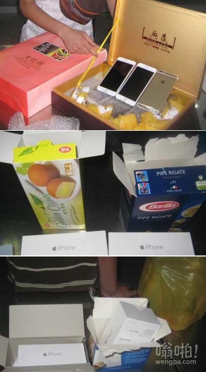 打开蛋黄派,里面全是iPhone6!蛋黄派藏iPhone6被香港海关工作人员查货