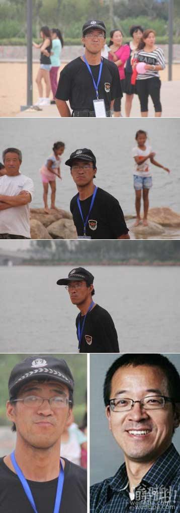 山东东营海边保安撞脸俞敏洪 难道是失散多年的兄弟?