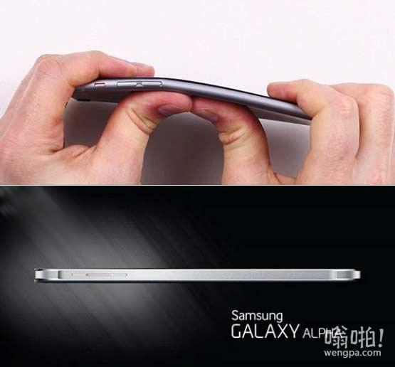 """苹果iPhone6 Plus""""弯曲门"""" 三星出击:Galaxy Alpha更薄但不会弯曲"""
