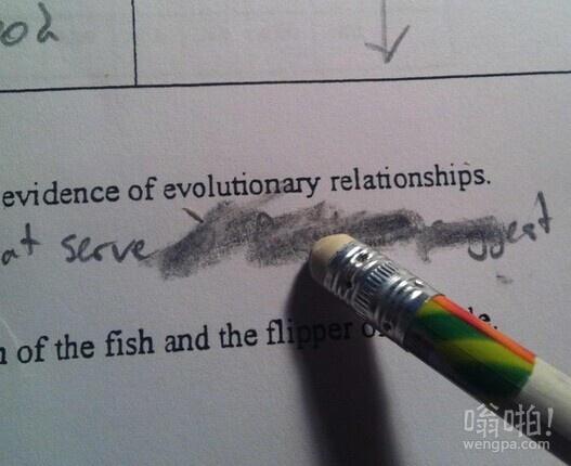 小时候写作业时很郁闷的一件事