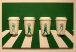 星巴克杯子上的艺术:韩国艺术家把老星巴克杯子变成了古怪的艺术作品