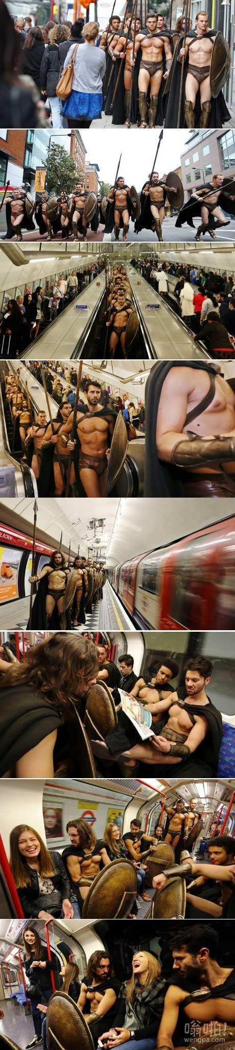 """巴达勇士出现在伦敦街头,并在地铁上""""挑逗""""乘客"""