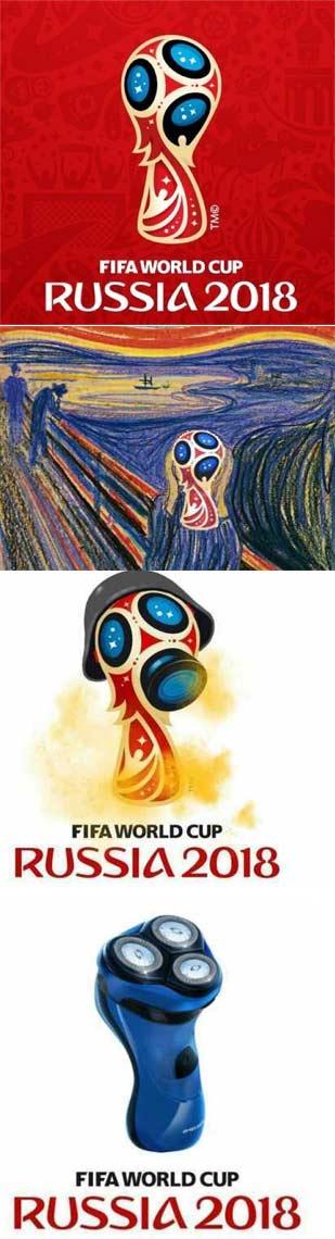被玩坏的俄罗斯世界杯logo 名画《呐喊》果断中枪