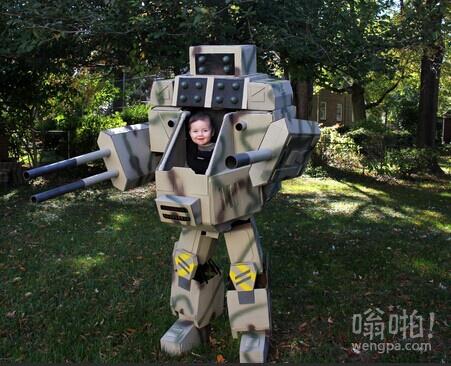 2014年万圣节 Ryan和杰兰特机甲战士