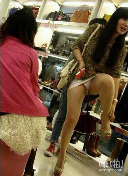 这鞋有点小是吧