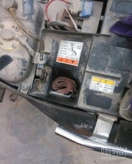 今天修车的时候发现的,这个客人还给小费,我都不好意思了。