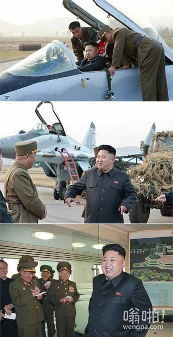 嗯,他是一个特立独行的领导者:朝鲜独裁者金正恩空军基地参观设法挤进喷气式战斗机驾驶舱