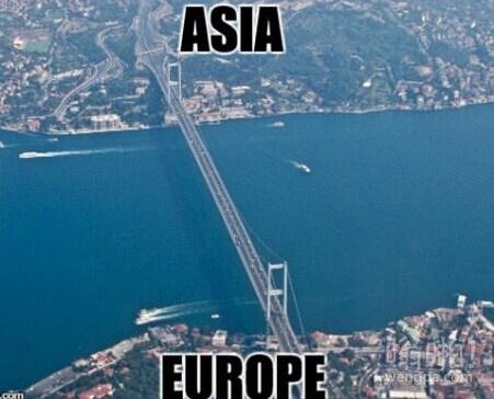 伊斯坦布尔的桥梁横跨亚洲和欧洲