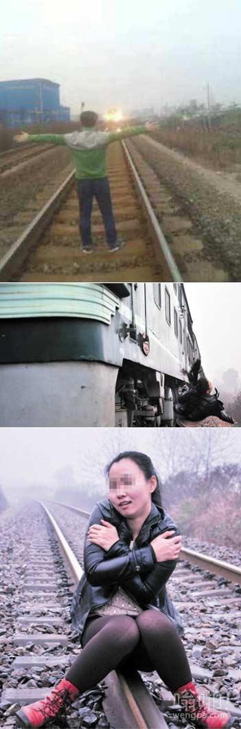 【视频】青年为网上发帖炫耀 两次铁轨拍照逼停火车 网友:有种去高铁逼停