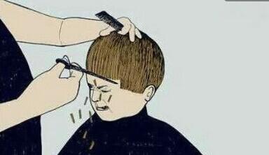 好不容易习惯了自己的长相,理个发又换了一种丑法。