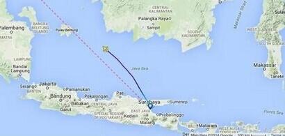 亚航客机QZ8501失联 最新消息:印尼勿里洞岛东部坠毁 机上155人 无中国公民