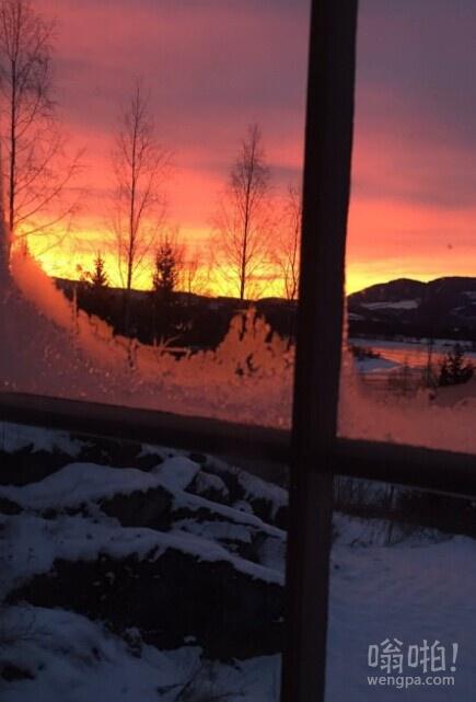 今早从房间角度(挪威利勒哈默尔)