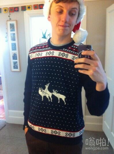 妈妈给织的圣诞毛衣