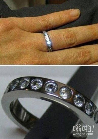 工程丝自制LED发光戒指感动女友成功求婚