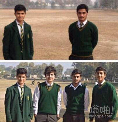 巴基斯坦两名白沙瓦学校学生 他们的朋友在恐怖袭击中失去生命。
