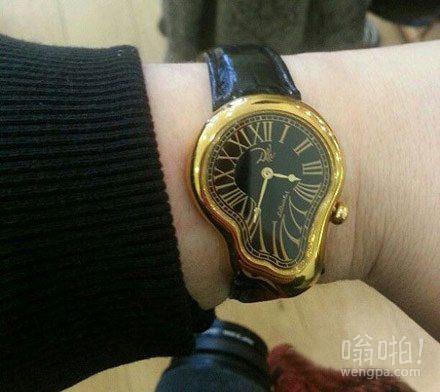 买这块表就是为了要记住时间流逝很快,不要去虚度浪费