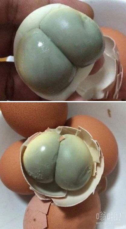 难得的双黄蛋,可我确突然没了胃口