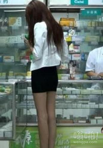 这美女的腿到底有多长