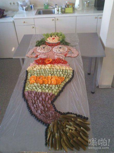 刚下班看到老婆准备的人鱼宴