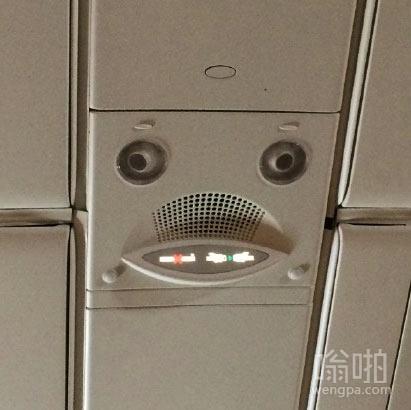 A380机型上这死鱼脸害我一路都没睡好,它娘的竟然还有眉毛!