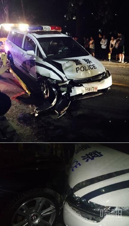 警车撞宾利司机逃跑 警车司机系森林分局副局长 涉嫌酒驾