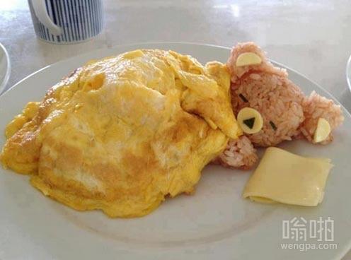 小熊煎蛋:没有一个比这个早餐更舒服