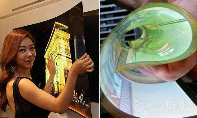 LG超薄墙纸电视问世 超薄电视厚度小于1mm、1.9公斤重_售价